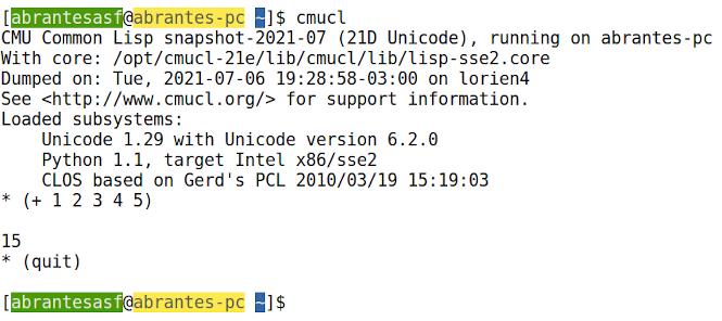 Ambiente de Desenvolvimento para Common Lisp: Emacs + SBCL + CMUCL + Quicklisp + utilitários. Parte V: Instalação do CMUCL