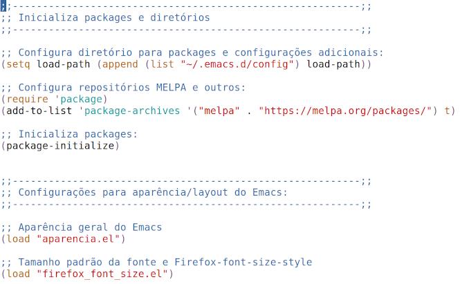 Ambiente de Desenvolvimento para Common Lisp: Emacs + SBCL + CMUCL + Quicklisp + utilitários. Parte III: Configuração do Emacs